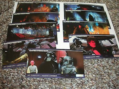 1995 STAR WARS THE EMPIRE STRIKES BACK WIDESCREEN CARDS (LOT OF 9)