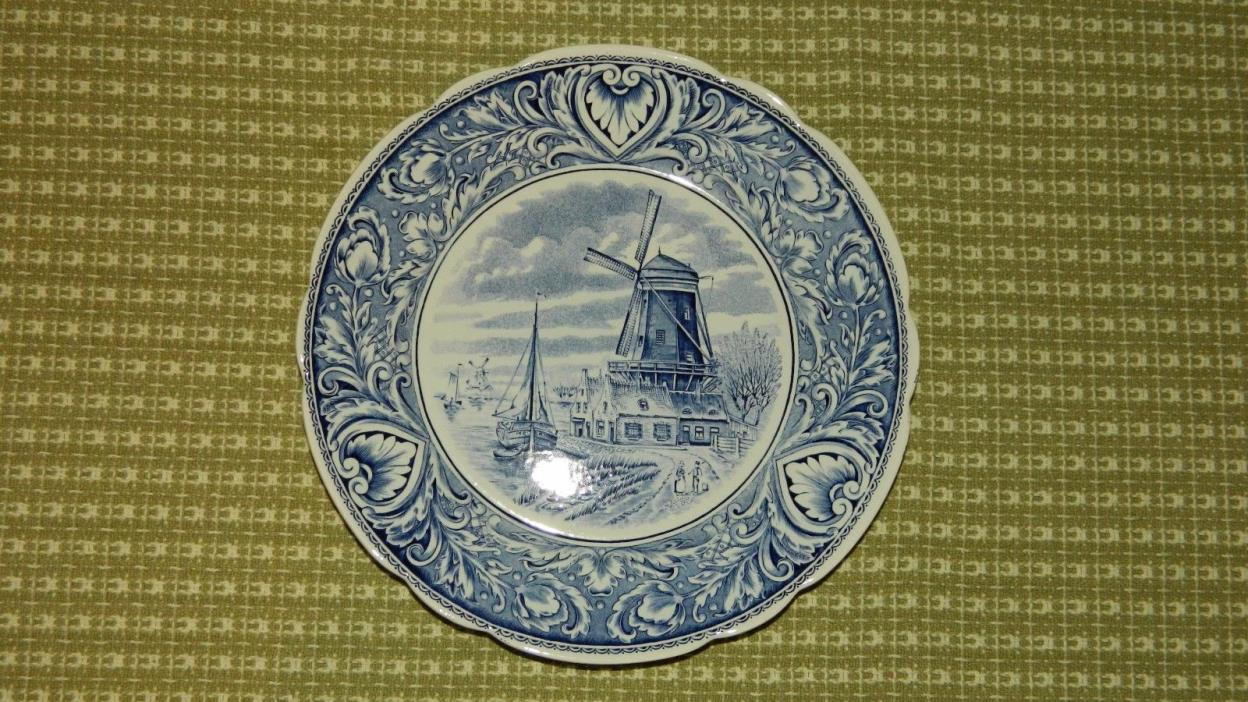 Delfts by Boch Windmill Plate