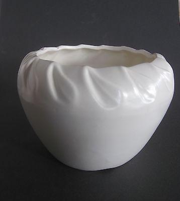 Vintage USA  Pottery  Matte White Bowl/  Planter / Vase