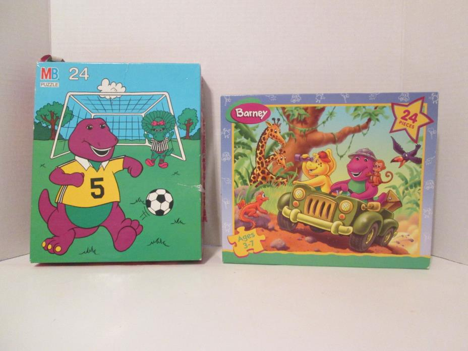 Two Barney the Dinosaur Puzzles Baby Bop BJ