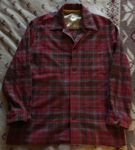 Vintage Men's Wool Plaid Work/Chore Jacket