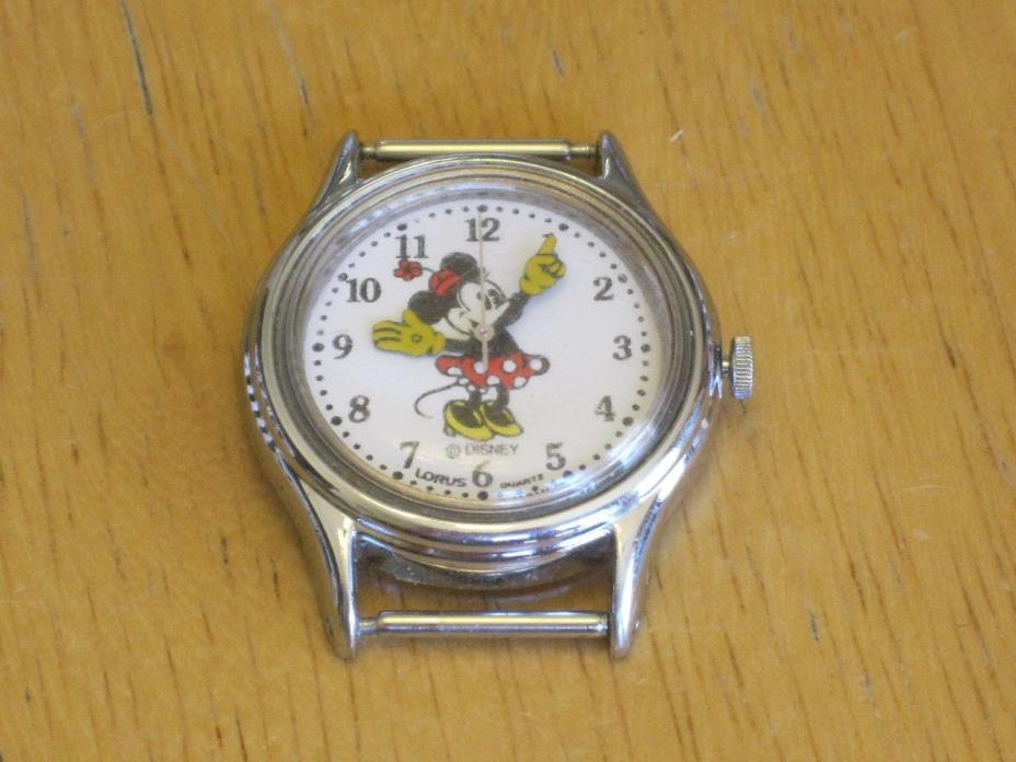 Vintage Ladies Lorus Disney Silver-Tone Minnie Mouse Watch