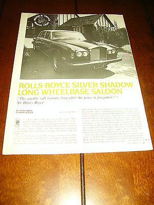 1976 ROLLS ROYCE SILVER SHADOW - ORIGINAL ARTICLE