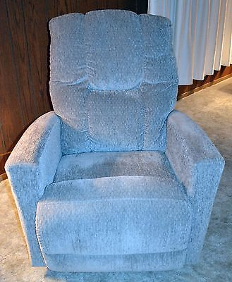 Lazy Boy Power Recliner Rocker Gray Fabric