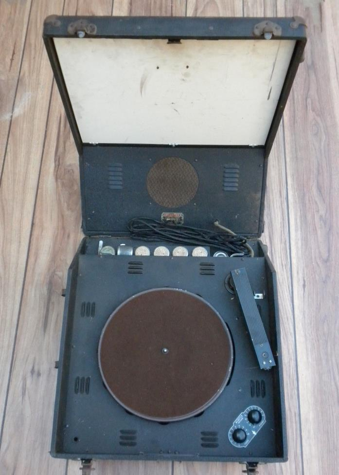 VINT.WEBSTER AUDIO/VIDEO TRAINING RECORD PLAYER WITH FILMS~1941 PLYMOUTH MOTOR C