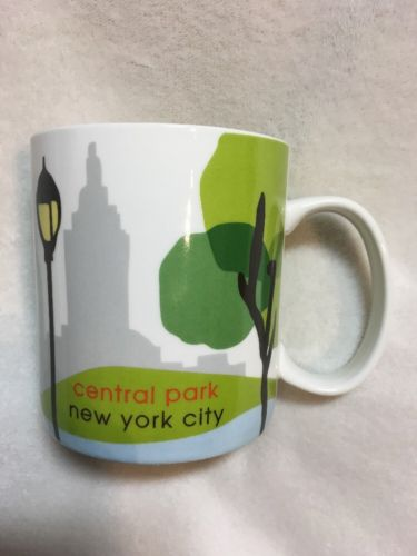 Starbucks Central Park New York City Large Coffee Cup Mug 18 Ounce 2007