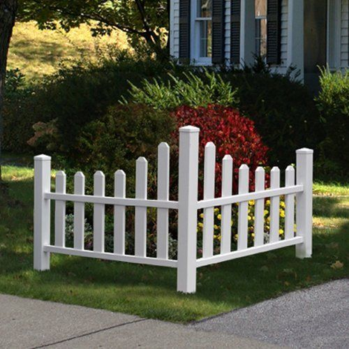 Charm White Picket Fence Real Wood Whether Resistant Outdoor Home Decoration