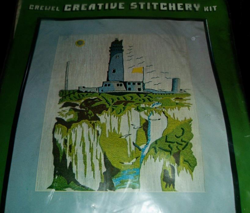 Lighthouse Vintage Crewel Embroidery Kit