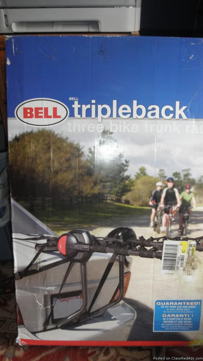 BELL TRIPPLEBACK THREE BIKE TRUNK RACK CARRIER CARS VANS TRUCKS SUV'S