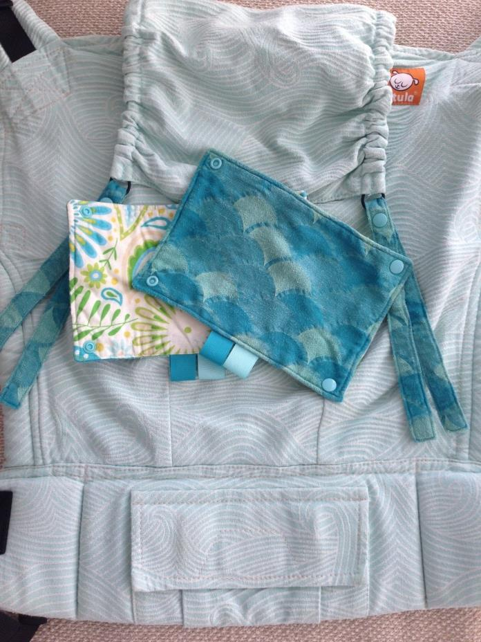 Toddler Tula Half Wrap Conversion Mint Waves w/ Accessories
