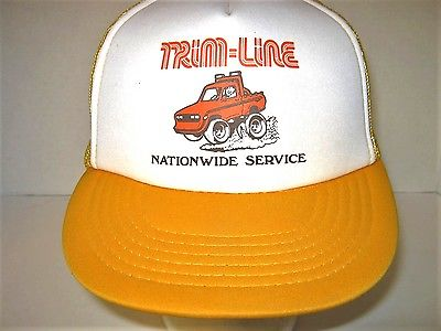 Vintage 60's 70's Trim-Line Mud Digging Trackor Truckers Foarm Mesh Hat Cap MINT