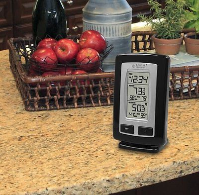 Wireless Thermometer Min-Max Outdoor and Indoor Temperature Station with Time