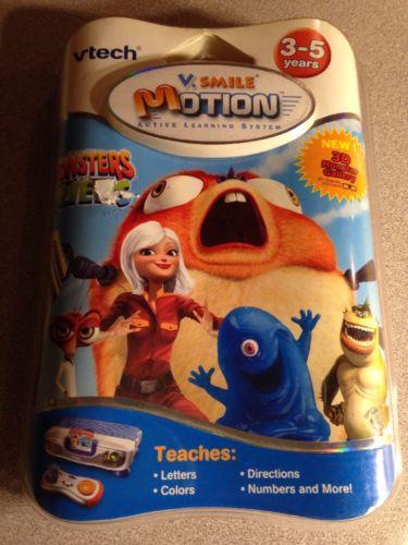 Vtech V-Smile V-Motion Monsters VS Aliens NEW