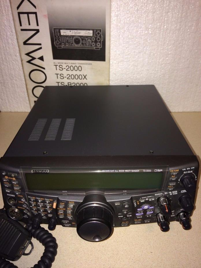 KENWOOD TS-2000 HF/50/144/440 MHz TRANSCEIVER WITH DRU-3A AND VS-3 INSTALLED