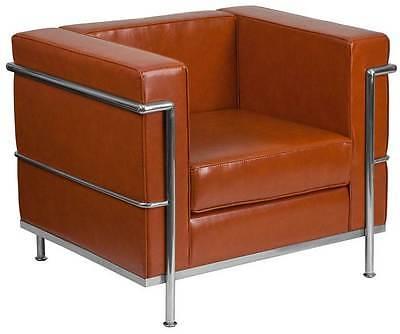 Chair with Encasing Frame in Cognac [ID 3500409]