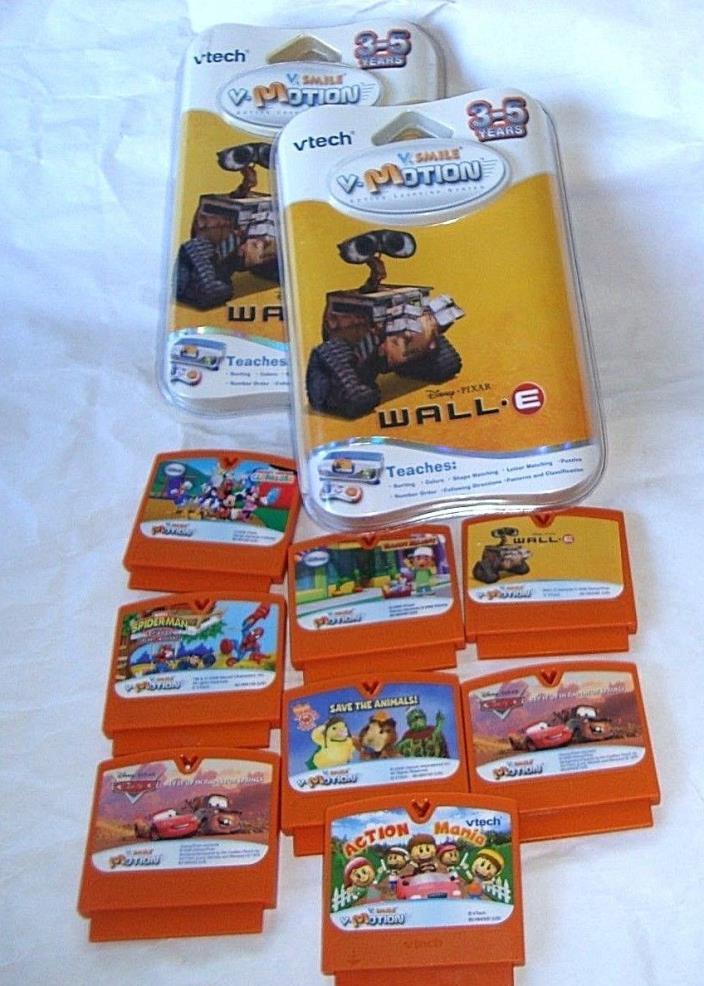 10 V-Tech V-Smile V-Motion Games vtech vsmile WALL-E