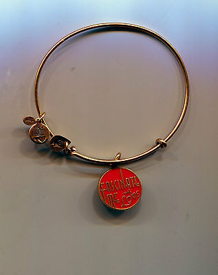 ALEX & ANI gold red  fascinate with love bracelet valentines day