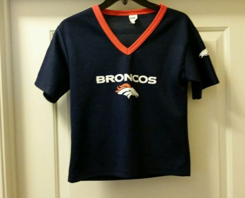 NFL YOUTH FRANKLIN DENVER BRONCOS BLUE JERSEY SZ: M