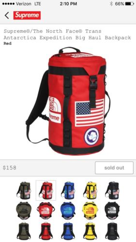 Supreme/ The North Face Trans Antarctica Expedition Big Haul Backpack ONLY RED