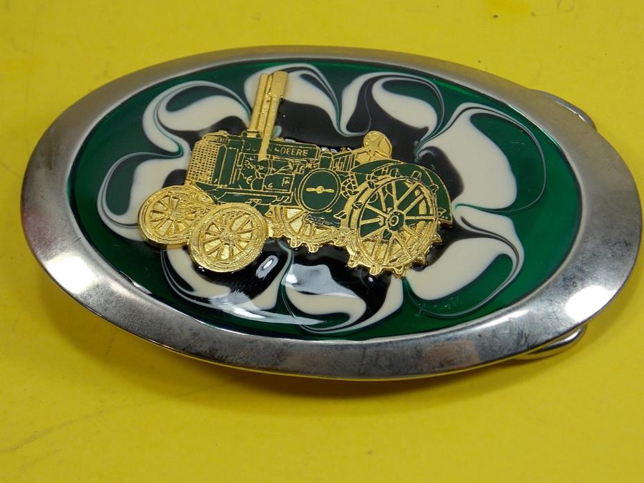 VINTAGE JOHN DEERE TRACTOR STEEL WHEEL BELT BUCKLE