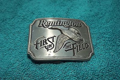 Remington belt buckle.  First in the Field  Cowboy Western