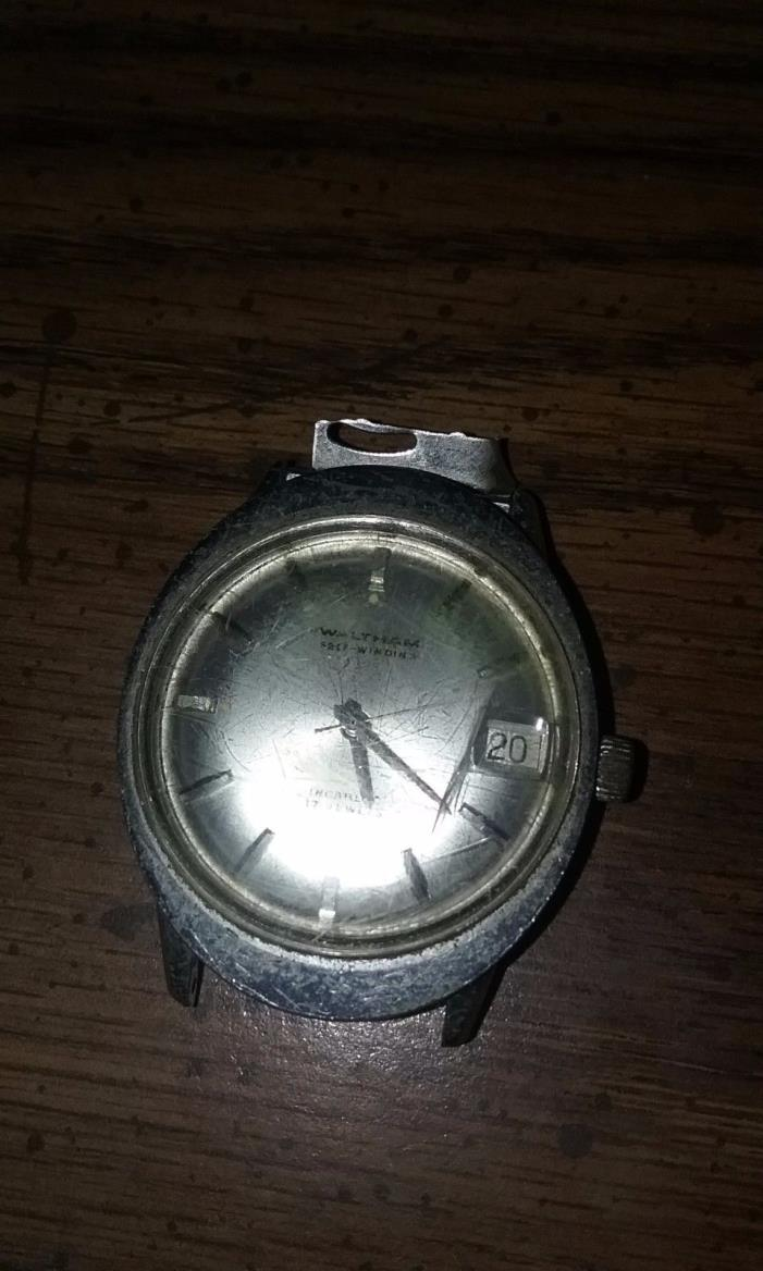 Vintage Waltham Mens Watch Face 17 Jewel