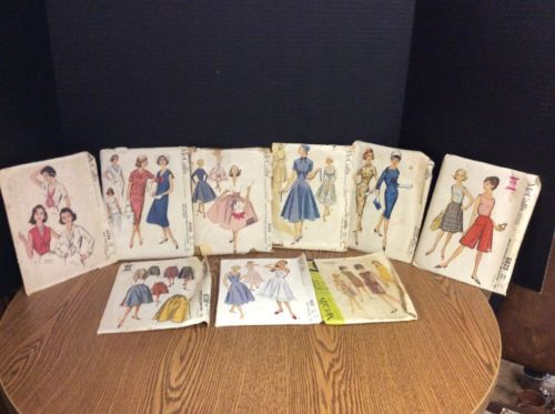 Vintage Lot Of 9  *McCall's Sewing Patterns