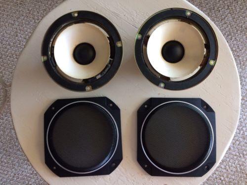 Realistic Mach 2 Mid-range Speakers (set) & Mid-range Speaker Grills (set)
