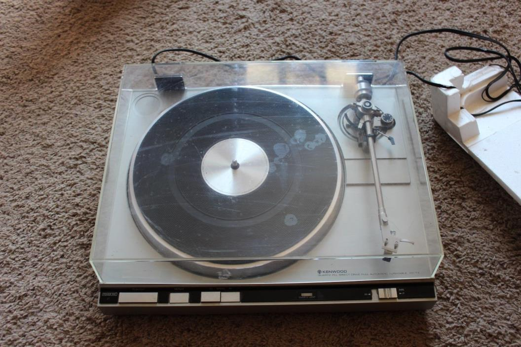 Vintage Stereo Kenwood KD 7X Record Player Old School IOB Must See