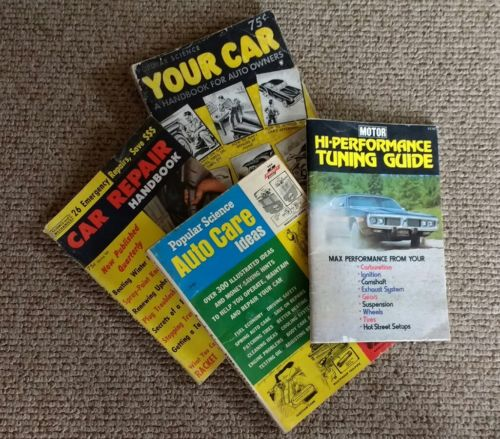 Great Lot Vintage Popular Mechanic, Car Repair Handbook Magazines