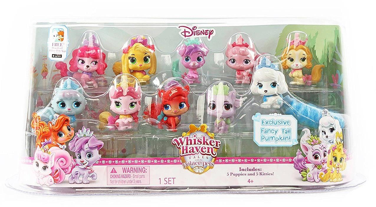 Disney Palace Pets Whisker Haven Tales MINI 10 Pet Set 5 puppies 5 kittens