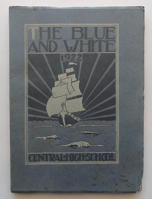 (205) 1922 The Blue and White Central High School Springfield MA Yearbook PB