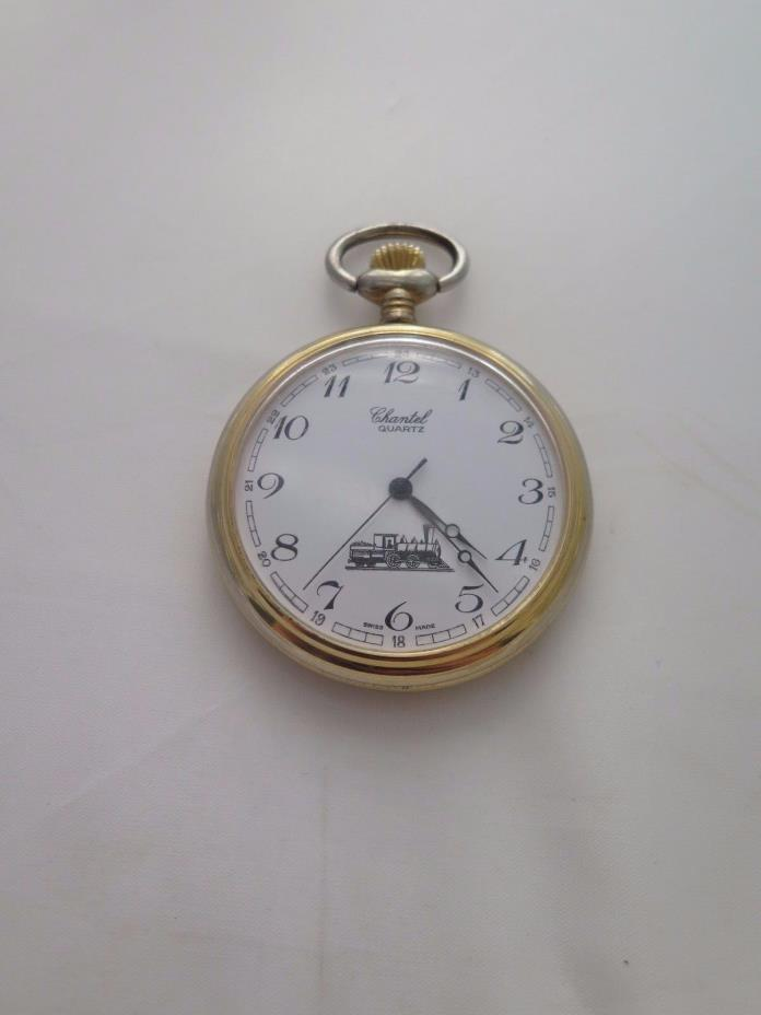 Chantel Quartz Pocket Watch Gold Tone for Parts Working