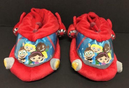 Rare LITTLE EINSTEIN'S Slippers Red Rocket Toddler Boys/Girls 8 9 10 EUC!!