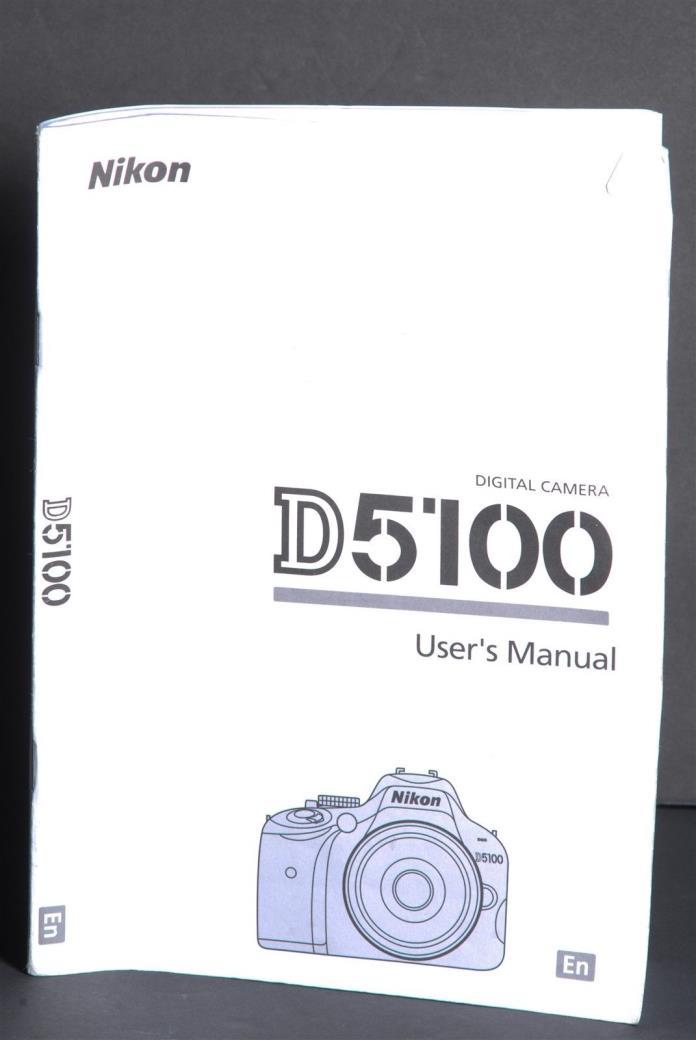 Nikon Genuine D5100 Camera Instruction Book / Manual / User Guide