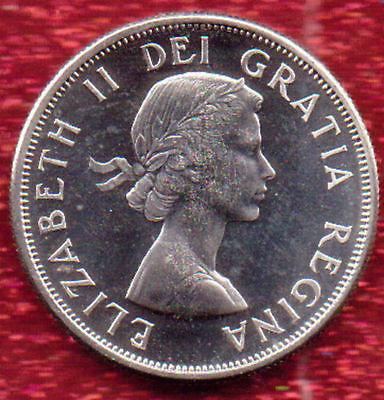 Brilliant Uncirculated Sharp Silver 1964 Canada Fifty Cents, Elizabeth II
