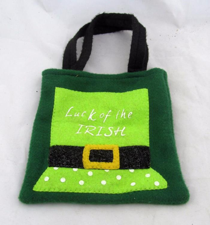 St. Patrick's Day Luck of the Irish Fabric Cloth Treat Gift Bag Sack Mini Purse