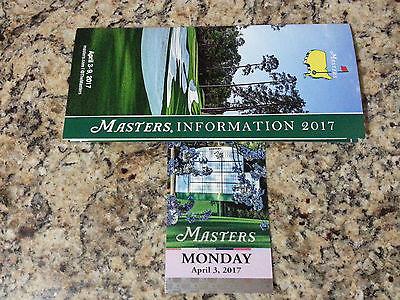 Masters Ticket April 3, 2017 * Augusta Monday Practice Round