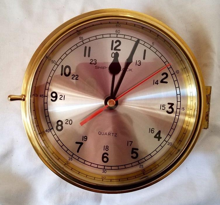 Solid Brass Nautical Port Hole Quartz Wall Clock