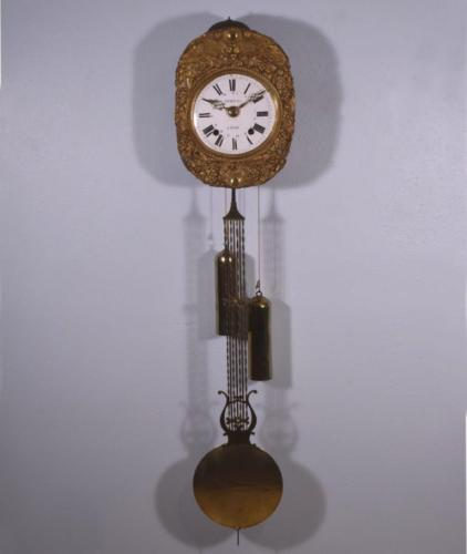 *Antique French Comtoise/Morbier Wall Clock Complete & Running