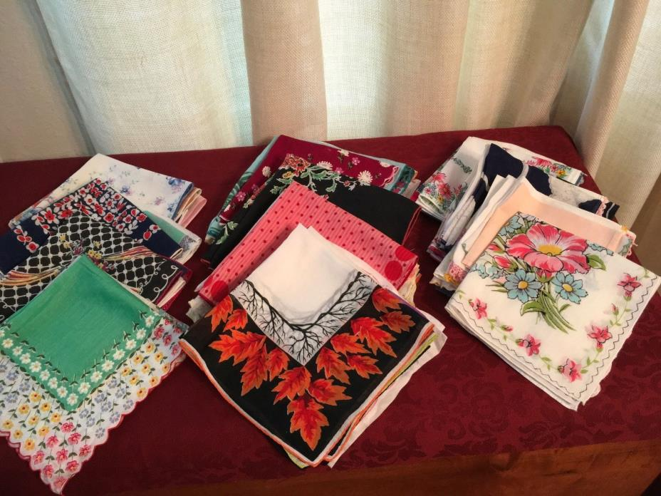 Vintage beautiful hankies handkerchiefs lot of 70