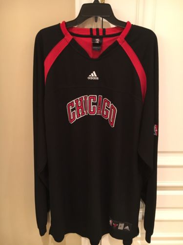 2005-06 Tim Thomas #2 Game Worn Chicago Bulls Warm-Up Jersey NBA Adidas!!
