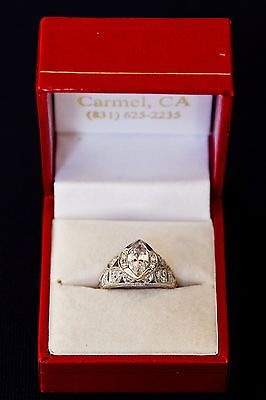 Gorgeous Platinum Marquise Cut Edwardian Diamond Ring
