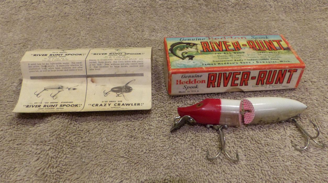 Vintage Heddon River Runt Spook Floater w/ Box 9430RH S532 Fishing Lure Special