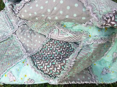 Crib toddler bed Rag Quilt Gender Neutral