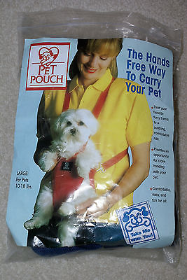 EUC Pet Pouch Front Carrier Large 10-18lb dogs FREE SHIPPING