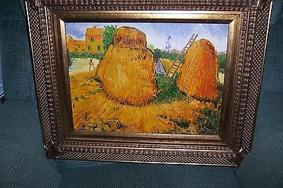 Reproduction Painting of Vincent Van Gogh Haystacks in Provence,
