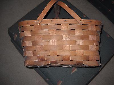 Vintage Woven Wicker Picnic Basket