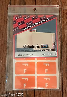 450 SMEAD AlphaZ ACCS-F Alphabetical Letters F Orange Color Coded File 67176