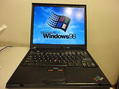 Windows 98 SE / DOS Laptop Computer - IBM Thinkpad Pentium-4